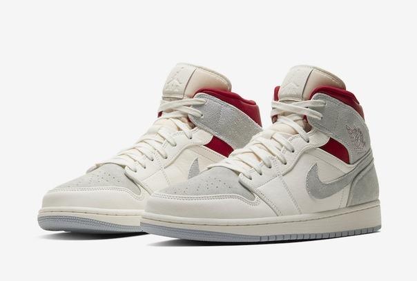 Nike Jordan 1 Retro бело-серые с красным (40-45)