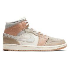 Nike Jordan 1 Retro Milan бело-серо-бежевые (35-40)