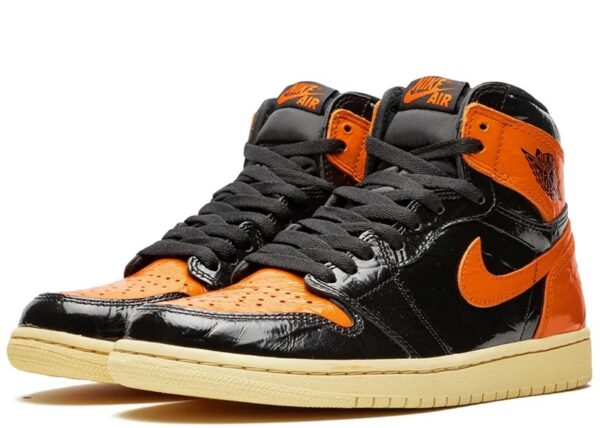Nike Jordan 1 Shattered Backboard 1.0 черно-оранжевые (35-45)