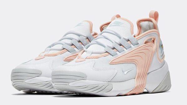 Nike Zoom 2k белые с розовым (35-39)