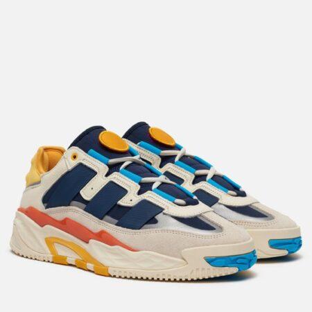 Adidas Niteball серые-синие кожа-нубук мужские (40-44)