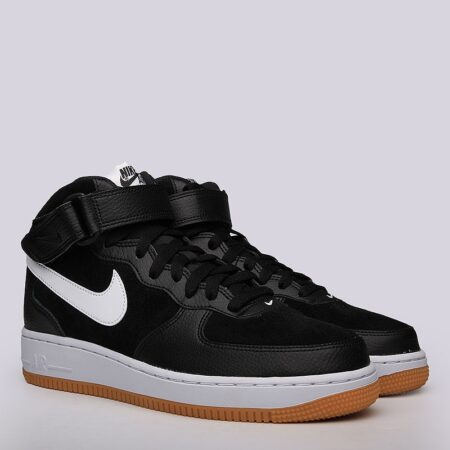 Nike Air Force 1 Mid 07 черные (40-44)