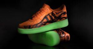 Nike Air Force 1 Skeleton оранжевые-скелет (40-44)