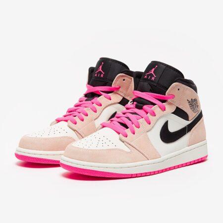 Nike Air Jordan 1 Retro бело-розовые (35-39)