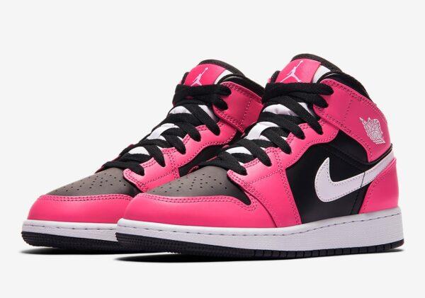 Nike Air Jordan 1 Retro черно-розовые (35-39)