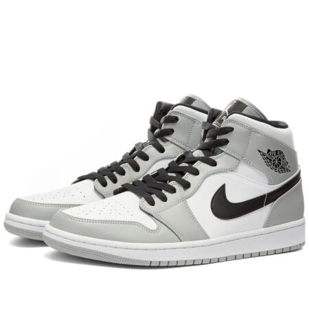 Nike Air Jordan 1 Retro Mid серо-черные (35-44)