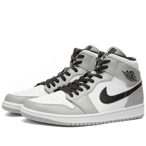 Nike Air Jordan 1 Retro Mid серо-черные (35-44)