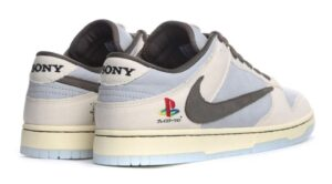 Nike Dunk Travis Scott PLAYSTATION бело-голубые (40-44)