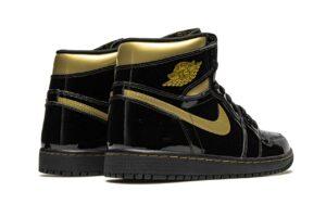 Nike Air Jordan 1 Retro High Black Metallic Gold черно-золотые (35-44)