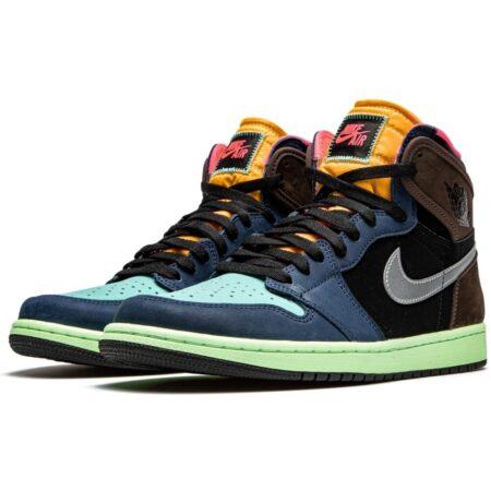 Nike Air Jordan 1 High Tokyo Bio Hack сине-черно-коричневые-голубые (40-44)