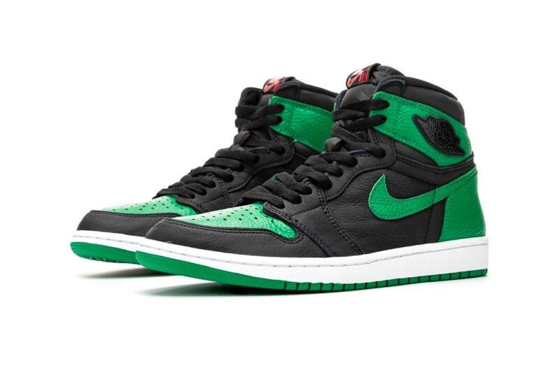 Nike Air Jordan 1 Retro зелено-черные (35-40)