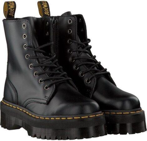Зимние Ботинки Dr. Martens Jadon с мехом  черные (35-40)