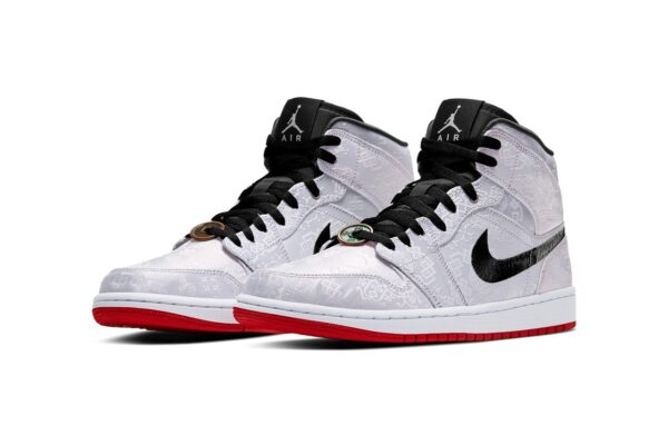 Nike Air Jordan 1 Mid 'Fearless Edison Chen серые (40-44)